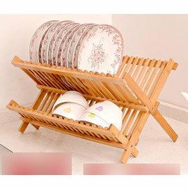 【碗碟架-楠竹-炭化-16格加寬】竹碗架 瀝水架 廚房碗碟架 置物架 瀝碗架 雙層放碗架,適合任何碗碟(47*21*21,間隔2cm)-8001010