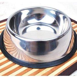 【寵物碗-單口碗-不銹鋼-L-25-430g-1個/組】狗碗 防滑 貓咪飯碗 狗狗水碗 ,L--底直徑25 口直徑20 深4.5cm 可裝430g,1個/組-79011