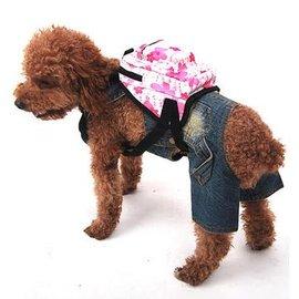 【自背包-小方花-牛津布PVC印花-3245】狗狗 寵物貓咪 背包 可做胸背牽引用,尺寸長