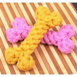 ~繩結玩具~棉繩結編織骨頭~1203~3個 組~寵物貓咪玩具 狗狗玩具 磨牙潔齒 無毒 顏