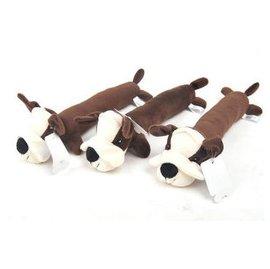 ~響聲玩具~咖啡絲瓜狗~毛絨~1805~3個 組~長形狗狗玩具 發聲寵物玩具 逗貓咪毛絨玩