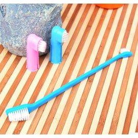 ~寵物牙刷~三件套裝~15~5cm~2套  組~全角度刷牙 清潔衛生 口臭少了 顏色 ,長