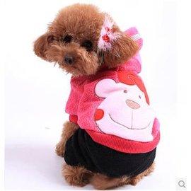 ~寵物服裝~大臉貓~ ~4規格~寵物狗狗貓咪衣服 四腳棉衣 ,規格:XS S M L^(請