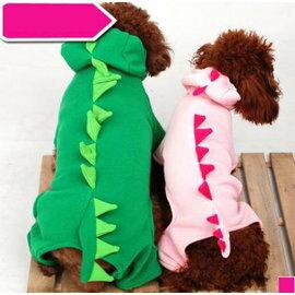 ~寵物服裝~恐龍變身裝~ ~寵物狗狗貓咪衣服 四腳棉衣 顏色 ,規格:XS S M L X
