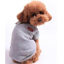 ~寵物服裝~英倫風灰色polo衫~ ~寵物狗狗貓咪衣服 棉衣 顏色 ,規格:XS S M