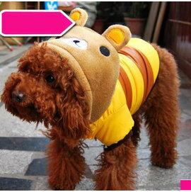 ~寵物服裝~奶咖小熊~ ~4規格~寵物狗狗貓咪衣服 風衣加厚棉衣 顏色 ,規格:XS S