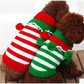 ~寵物服裝~聖誕節毛衣~ ~4規格~寵物狗狗貓咪衣服 保暖棉衣 顏色 ,規格:XS S M
