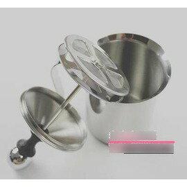 【不銹鋼雙層奶泡器-L13*W9.5*H17.5cm-400ml-2個/組】卡布奇諾打奶器 發泡器 打奶泡杯 壺 花式咖啡必備-7501007