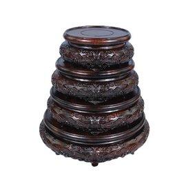~黑梓木圓形底座~1號~外徑9^~高4cm~1個 組~黑梓木整料底座紅木工藝品奇石玉石紫砂