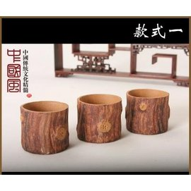~功夫茶具~枯木小杯~紫砂~底5.2^~6.2^~高3.6^~4.6cm~40^~50ml