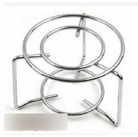 【不銹鋼圓架-直徑13.5*高11cm-2個/組】 摩卡壺虹吸壺專用加熱器具 瓦斯爐架子 適用於底部直徑8cm以上的摩卡壺-7501008
