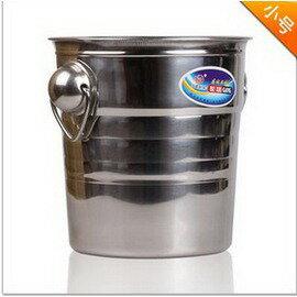 【圓形手柄不銹鋼冰桶-小號-3L-口徑18*高19.5cm-1套/組】香檳桶 西餐廳 酒吧 KTV專用 香酒冰桶 冰粒桶啤酒桶-7501009