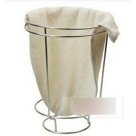 【濾泡咖啡沖架+沖袋-小號(2-10人份)-法蘭絨+不銹鋼-直徑13.5*高18.5cm-1套/組】濾泡咖啡滴漏咖啡手沖咖啡濾架-7501009