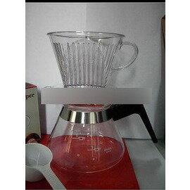 【手沖咖啡壺套裝-102-400ml-2-4人份-3件/套-1套/組】 濾泡咖啡過濾杯組合(3件/套:濾杯、豆勺、壺)-7501009