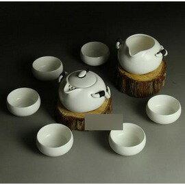 【定窯茶具套裝-月白普盒-玉瓷泥-壺200ml*1-海200ml*1-杯50ml*6-1套/組】整套茶具 陶瓷功夫茶具,安全普盒包裝-7501016