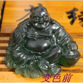【茶寵-變色佛-樹脂-8.5*7*5cm-4個/組】茶寵 茶具配件 變色佛 笑口常開 茶盤擺件-7501016