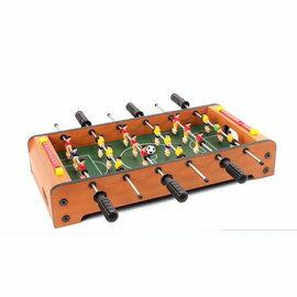 【桌上足球-6杆木紋-纖維板+ABS-50*25*9cm-1套/組】6杆4杆桌上足球 小型家用桌上足球遊戲兒童玩具禮物-56017