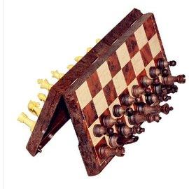 【磁性折疊國際象棋-UB-M碼-棋盤28*24.5*2cm-1套/組】高檔木塑仿木紋西洋棋 立體國際象棋 帶折疊棋盤成人桌遊(棋盤*1+棋子*32)-56017