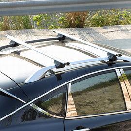 【通用型載重橫杆車頂架-標配款-總長122-桿120*5.5*2.8cm-2根/組】安裝于縱向行李架 汽車行李架 帶鎖橫杆自行車架 汽車自行車架-7682038