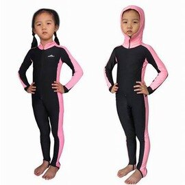 【連體泳衣褲套裝-無帽兒童款-1套/組】潛水水母衣 防曬防水母 潛水服游泳衣 男女兒童款 彈性沙灘衣浮潛衣服-76005