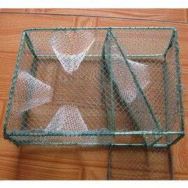【三門方形抓蝦籠-25*18*10cm-6套/組】小蝦籠 地籠 魚籠河蝦籠 黃鱔籠 泥鰍籠蝦籠-76029