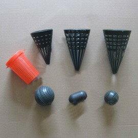 【塑膠誘餌籠-多款可混搭-36個/組】長型和圓形 塑膠蚯蚓誘餌籠漁籠誘餌籠黃鱔誘餌袋誘餌盒誘餌球-76029
