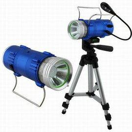 【無級調光釣魚燈-A套餐(單手電筒)-1套/組】直徑6*16cm-5W充電式夜釣燈(無級調光+藍白雙光源)藍光燈釣魚燈垂釣燈(不含電池)-76019