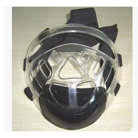 【拳道面罩-透明壓克力-中性均碼-1套/組】跆拳道面罩 空手道也用 頭後固定可調鬆緊適合各個碼數的頭盔(頭盔需另購)-56045