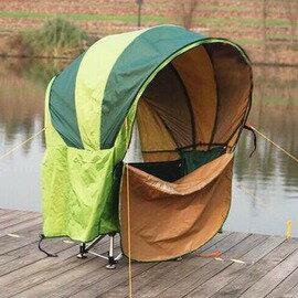【風雨蓬-收縮直徑60cm-1套/組】免搭建速開 帳篷釣魚傘 360度防風傘 台釣傘遮陽防紫外線帳篷(需要2個傘架)-76035