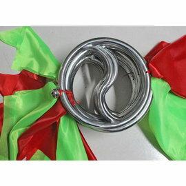 【太極雙環-S型-電鍍不銹鋼-線徑2-內圈徑18-外徑22cm-1對/套-1套/組】健身環木蘭環 鐵線圈練功環木蘭圈-56047