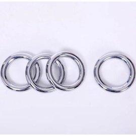 【鐵線圈-大號-電鍍不銹鋼-線徑1.8-內圈徑9-外徑13cm-2個/組】負重設備 優質電鍍練功環洪拳鐵環 鐵線圈功夫環-56047