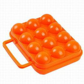 【12格雞蛋盒-PP-裝12只裝蛋/套-4套/組】安全塑膠雞蛋盒 防震軟凸點 帶提手 實用戶外炊具 野餐用品-76007
