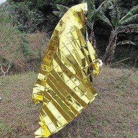 【急救毯-PET膜+塗層-210*160cm-3件/組】超輕便攜急救毯 救生毯 保溫毯(金銀色雙面)-76012