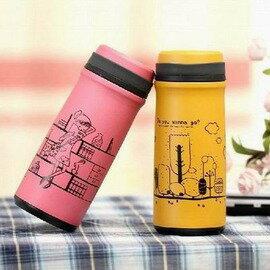 【真空不鏽鋼保溫杯-400ml-杯高19-囗徑5.3-底徑6.8cm-1套/組】帶茶隔能量杯 真空能量杯 水瓶水壺便攜水杯保溫瓶-76012