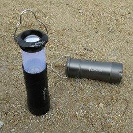 【二合一野營手電筒-電池款-LED燈泡-直徑3.8*長9.8cm-1套/組】旋轉變焦強光可做帳篷燈營地燈 3節電池(不含電池,充電器)-76012