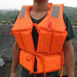 【成人標准款救生衣-長55*寬40cm-1套/組】適合身高160~180cm 防水布+泡沫 戶外成人兒童 釣魚游泳漂流用救生衣 乘船涉水求生 -76012