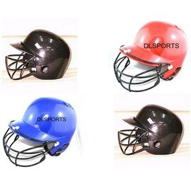 【面具打擊頭盔-ABS膠殼+泡棉內襯+EVA避震-1套/組】打擊頭盔棒球頭盔戴面具 防護罩 兒童青年保護專用-56004