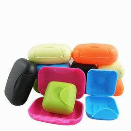 【旅行便攜香皂盒-PP-兩規格可選-6個/組】創意時尚手工皂盒 帶鎖扣密封帶蓋瀝水肥皂盒(大小可混搭)-76002