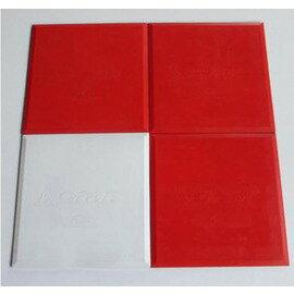 【防水壘包-PU-31.2*31.2*0.8cm-3塊/組】棒球壘球運動用簡易壘板橡膠防水壘包本壘板,紅色三塊-56005