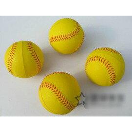 【軟式棒球-發球機用-發泡球-9英寸直徑7cm-6個/組】軟式棒球安全棒球練習用PU發泡棒球發球機用棒球-56005