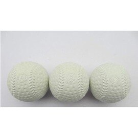 【軟式橡膠棒球-練習用-橡膠-9英寸直徑7cm-3個/組】日式棒球橡膠棒球彈力棒球雙核中空高彈棒球學生練習軟式棒球A球B球C球-56005