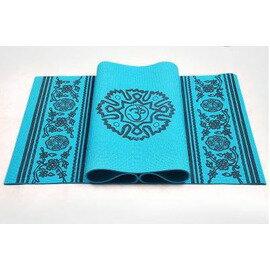 【瑜珈墊-西域聖音-厚8mm-3件套-PVC-173*61cm-1套/組】瑜伽墊 防滑瑜珈墊 健身毯子(3件套 : 墊+扣+包)-56008