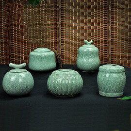 ~陶瓷茶葉罐~哥窯系列~大號~500  700ml~100  140g~1套  組~哥窯茶