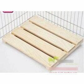 【木地板-松木-RJ155-322502】兔子天竺鼠龍貓籠子標籠通用木地板 ,32*25*2.5cm-79023