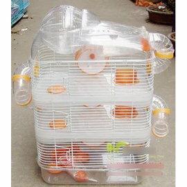 【倉鼠籠-四層-S813-402853】四層豪華倉鼠籠 三層透明世界太空樂園-79023