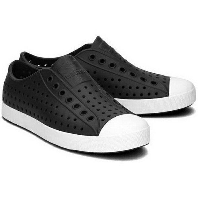 Native JEFFERSON 男女款 防水 洞洞鞋 休閒鞋 111001001105 白x黑【iSport】
