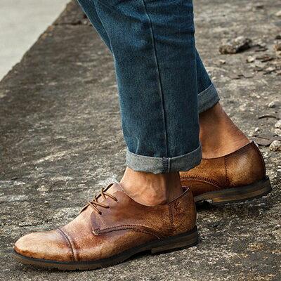短靴真皮繫帶靴子-英倫復古雅痞時尚男靴2色73kk59【獨家進口】【米蘭精品】