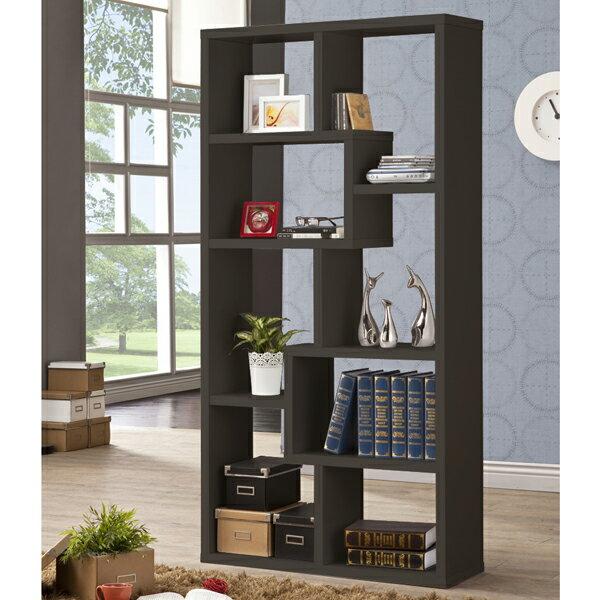 厚板造型隔間櫃 ( 胡桃色 ) 書櫃 / 置物櫃 / 收納櫃 & DIY組合傢俱