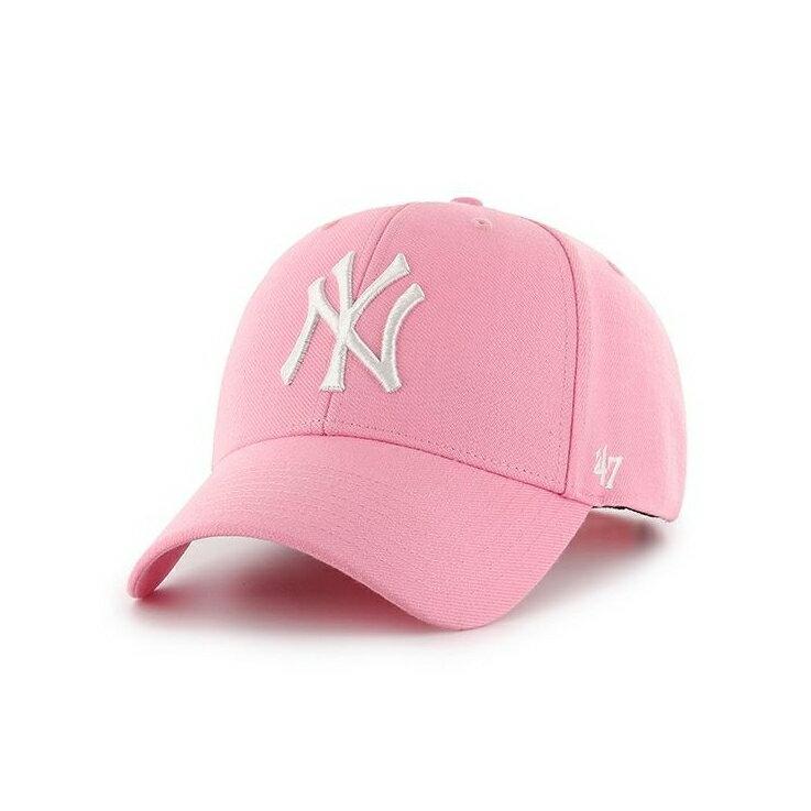 美國百分百【全新真品】47 BRAND 帽子老帽 棒球帽 紐約洋基 NY YANKEES 大聯盟 MLB 粉紅 J109