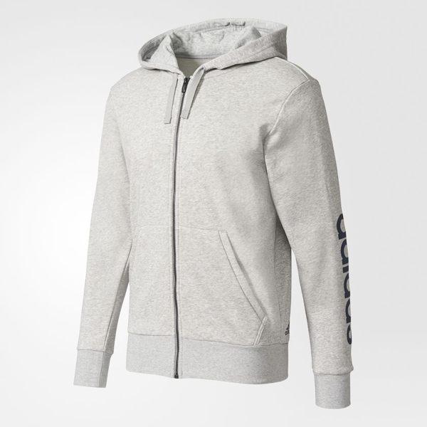 [尋寶趣]ADIDAS 白色 基本款 連帽外套 運動外套 運動長袖 男生 S98794